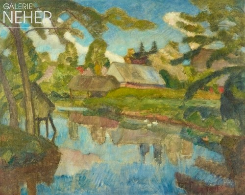 Otto Modersohn, Spring on the Wuemme, (ca. 1920)