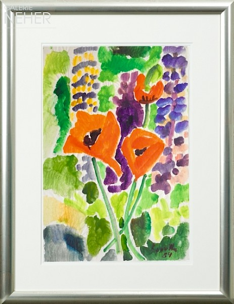Siegward Sprotte, Poppies and Lupins, (1984)