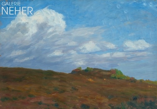 Fritz Overbeck, Large cloud over the Heather Hill, (1908)