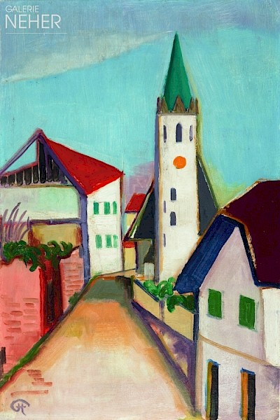 Karl Hofer, Church in Weissenburg, (1948)